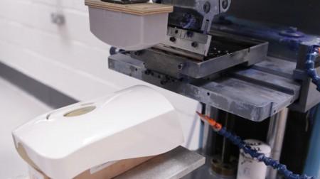 Logo printing on soap dispenser