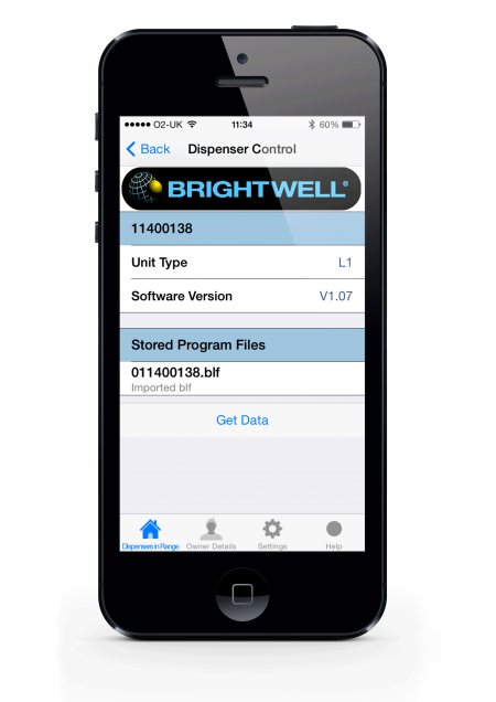 BrightLogic iPhone app - dosing system control